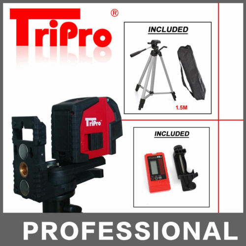 Receiver Detector Auto Self Leveling Cross Line Laser Level Outdoor Tripod