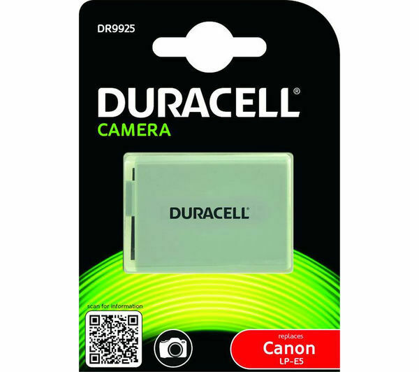 Duracell DR9925 Canon LP-E5 Rechargeable Battery New UK Stock