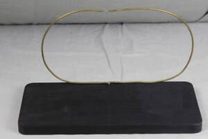 Deko /s37 Modische Und Attraktive Pakete Ideal Zur Präsentation Schnelle Lieferung Holzbrett Mit Aufgestecktem Messing Rahmen