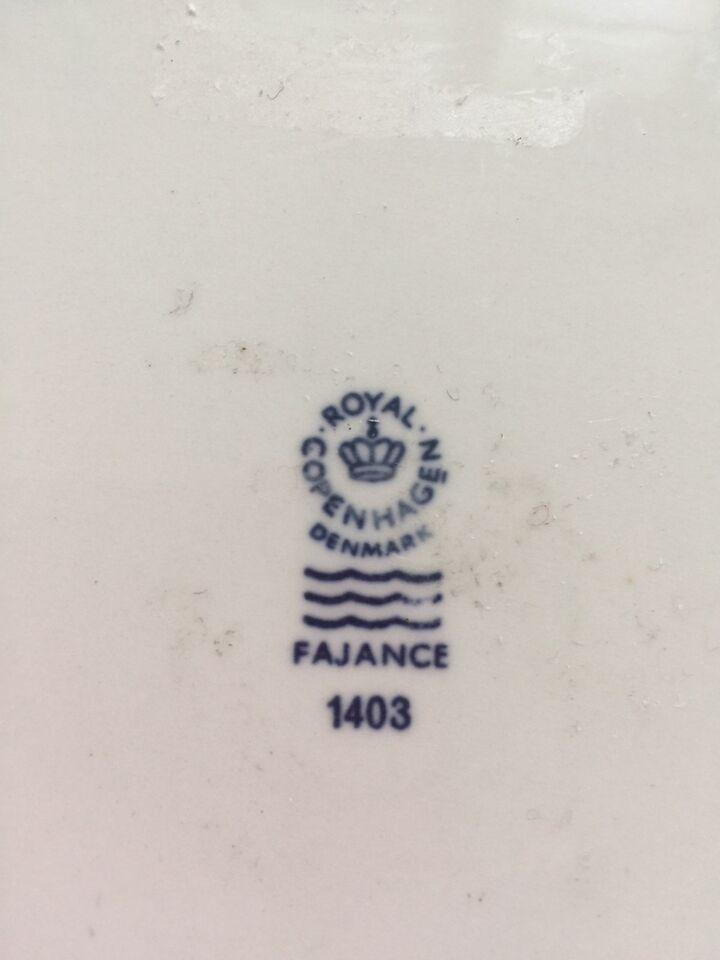 Fajance, Smørbrætter /smørbrikker , Royal Copenhagen