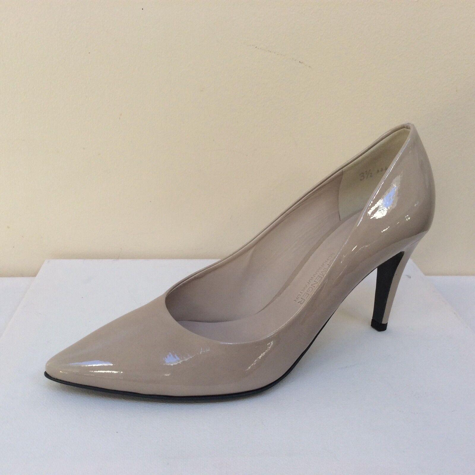 K&S shoes, Uma grey-taupe patent court shoes, K&S UK 3/EU 36,   BNWB 351225