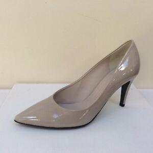 K&S Uma grey-taupe patent court shoes UK 8/EU 41 RRP £145 BNWB