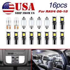 Led Light Kit For Toyota Rav4 2006 2018 Interior Lights Bulbs Package 16pc