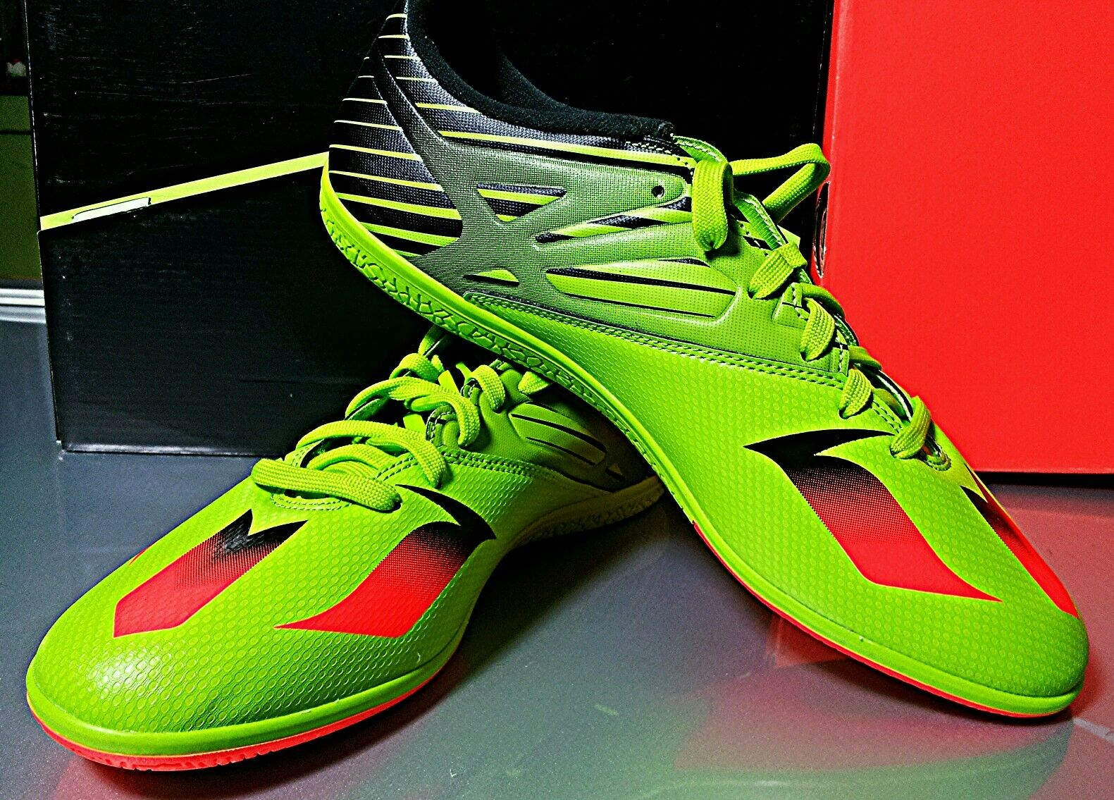 Adidas Men's Messi 15.3 Built to Win Indoor Soccer shoes ART S74691 Size 11