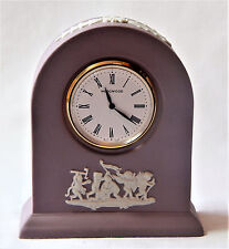 Domed Mantle Desk Clock Pink White Jasper Small Wedgwood England Battery op