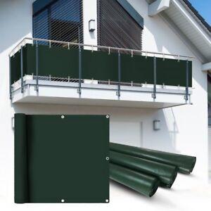 PVC-Balkon-Sichtschutzmatte-Sichtschutzzaun-gruen-6x0-9m-Schutzfolie