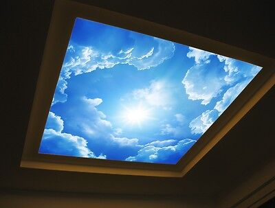 3D Sky Clouds Blue Wall Paper Wall Print Decal Wall Deco Indoor wall Mural Home