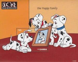 DISNEY-GAMBIA-101-DALMATIANS-S-S-5-MNH-DOGS