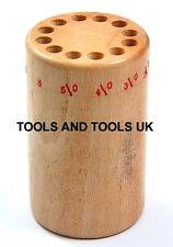 Professional Quality Hardwood Saw Blades Organizer Holder Wood Tool For Jewelers