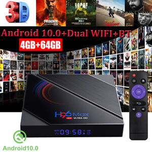 H96 MAX Android 10.0 OS 5G WIFI BT H616 4+64G TV BOX Quad Core USB Media Player