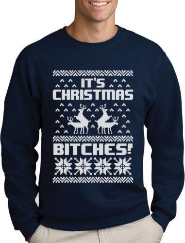 It/'s Christmas Bitches Ugly Sweater Humping Reindeer Funny Sweatshirt Xmas