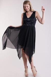 763a7ee5ece Image is loading Black-Lace-Chiffon-Handkerchief-Skirt-Fairy-Goth-Party-