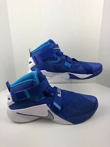 35f707fd98c Nike Lebron Soldier IX TB Blue White Basketball Shoes 749498-401 ...