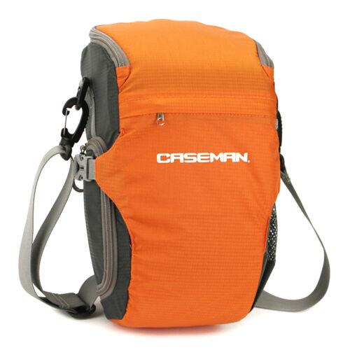 Water resistant Caseman AS01 Orange DSLR Camera bag Shoulder messenger case bag