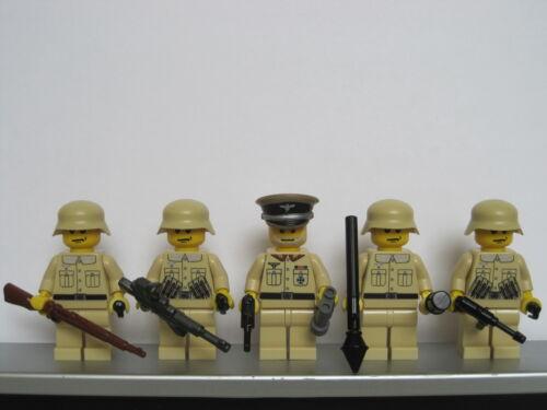 Lego WW2 GERMAN Desert Tan Infantry Soldiers MINIFIGS Weapons Tank NEW