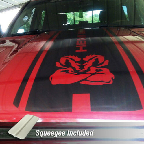 Hemi Dodge Ram 1500 2500 3500 Rebel Mopar Hood Decal Cut Vinyl 1-Pc Graphic