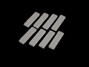 8 Lego 4,5V 12V Eisenbahn TRAIN Weisse Schwellen für Schiene 150 156 750 751