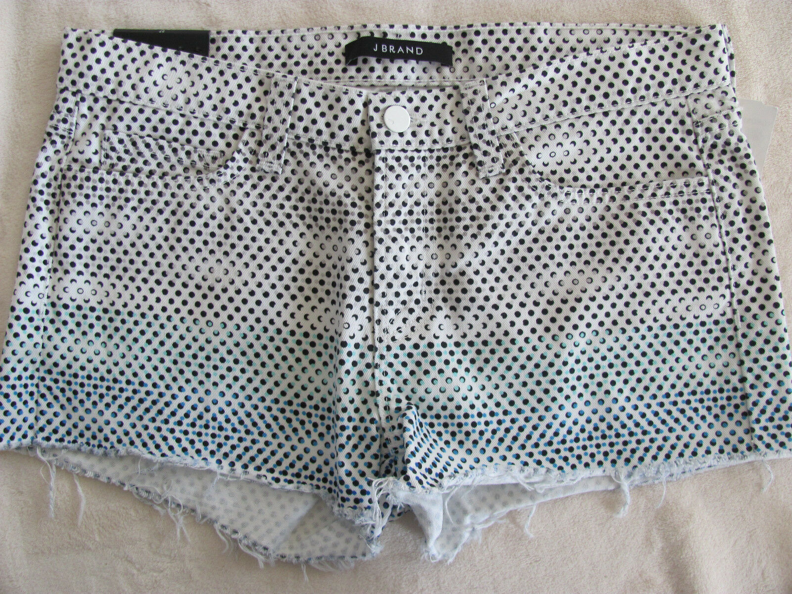 J Brand Cut Off Shorts - Ombre Dot -Low Rise - Size 27 - NWT