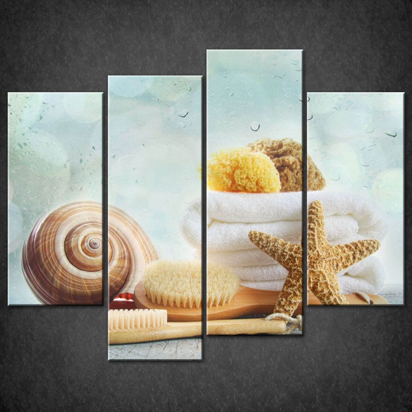 BATHROOM SPA DESIGN MODERN CASCADE CANVAS PRINT WALL ART READY TO HANG