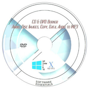 Details about CD/DVD BURN SOFTWARE for Windows & MAC! Copy CDs, DVDs, audio  to mp3! + FREEBIES