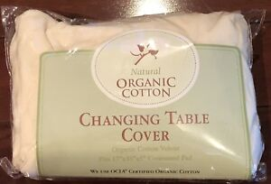 NEW-NATURAL-ORGANIC-COTTON-VELOUR-CHANGING-TABLE-COVER-17-X-35-X-5