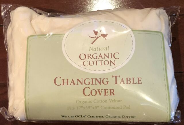 NEW NATURAL ORGANIC COTTON VELOUR CHANGING TABLE COVER 17 X 35 X 5