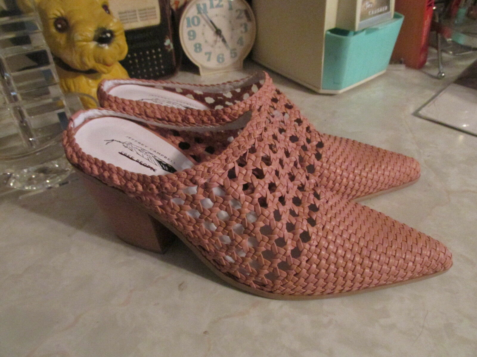 Jeffrey Campbell X Free People Waverly Mules Vegan Suede sz 7