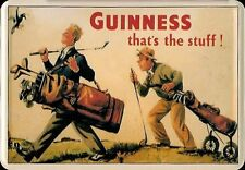 Guinness Golf Blechpostkarte Blechschild Metal Tin Post Card Sign 10 x 14 cm