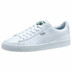 062f0b5b1f77 PUMA BASKET MATTE   WHITE SNEAKERS MEN SZ 6   WOMEN SZ 7.5 SHOES ...