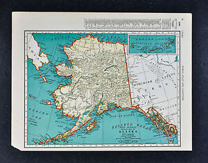 C 1935 mcnally map alaska juneau sitka anchorage fairbanks nome image is loading c 1935 mcnally map alaska juneau sitka anchorage gumiabroncs Image collections