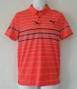 51949bb5cc PRO TOUR ED~Puma Golf LUX YD STRIPE Polo Rickie Fowler TAILORED FIT ...
