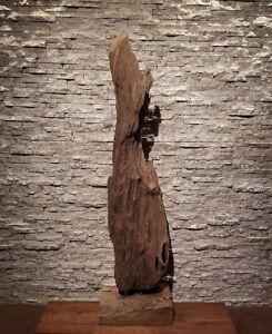 Teak-alt-Holz-Wurzel-Treibholz-Skulptur-Kunst-Statue-Deko-Holzobjekt-Ho-1927