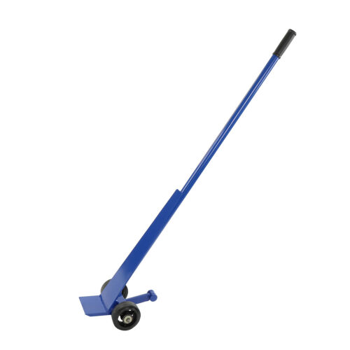 BISupply J Bar 56 Inches Moving Lever Handle Dolly Pry Bar with Wheels