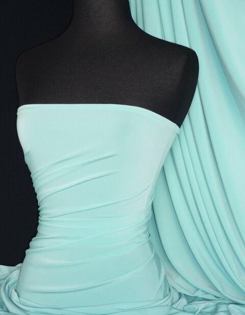 Silk touch 4 way stretch lycra fabric Minty blue Q53 MTYBL