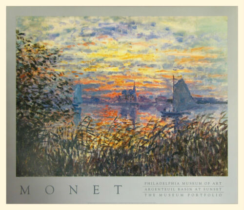 "Claude Monet  /""Argenteuil Basin at Sunset 1874/""  28x24"