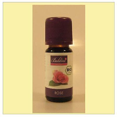 (114,90/100ml) Baldini Bio Aroma 100% naturreines ätherisches Öl Rose 10 ml