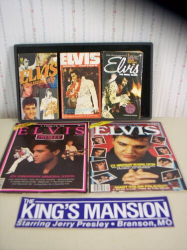 """ELVIS PRESLEY"" LOT~PB BOOKS~MAGAZINES~73-POSTCARDS~PICTURES~SIGN~TV GUIDES~MORE"