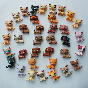 5pcs Lot Random Lps Toy Dachshund Dog Short Hair Cat Pet Shop Christmas Ebay