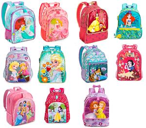 qualità superiore bbccd 4c5df Dettagli su Disney Store Zaino Frozen Ariel Belle Aurora Sofia Princess