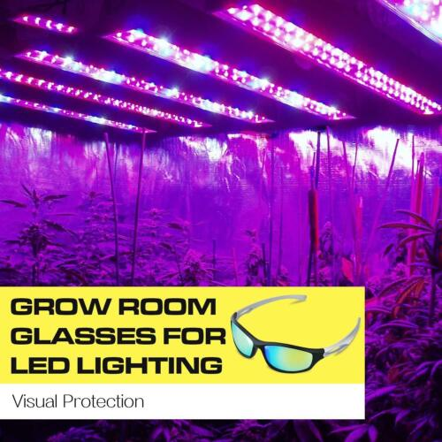 2-Pack iPower Indoor Hydroponics LED Grow Room Light Glasses Goggles Anti UV