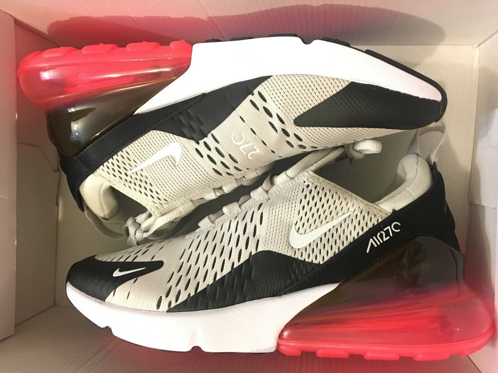NEW NIKE AIR MAX 270 LIGHT BONE HOT PUNCH AH8050-003 RUNNING SHOE MEN SIZE 7.5