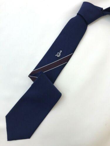 Vintage 1960s Boy/'s Deep Navy wGray /& Light Blue Geometric Pattern Necktie ~No Tag~ 2.75 Wide x 49 Long