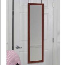 Large Over Door Mirror Practical Full Length Cherry Frame Bedroom Dressing Decor