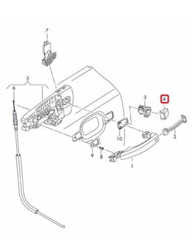 NEW GENUINE AUDI A1 A4 A5 A6 A7 A8 Q3 Q5 FRONT REAR DOOR ENTRY HANDLE PRIMED CAP