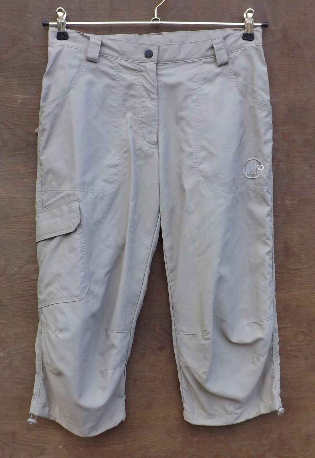 Mammut Sunrise Wohombres 3 4 Pants muy ligera 3 4 - pantalones para señora Taupe