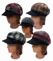 Ladies Trendy Herringbone Newsboy Cabbie Applejack 8 Panel Women Hat - 2