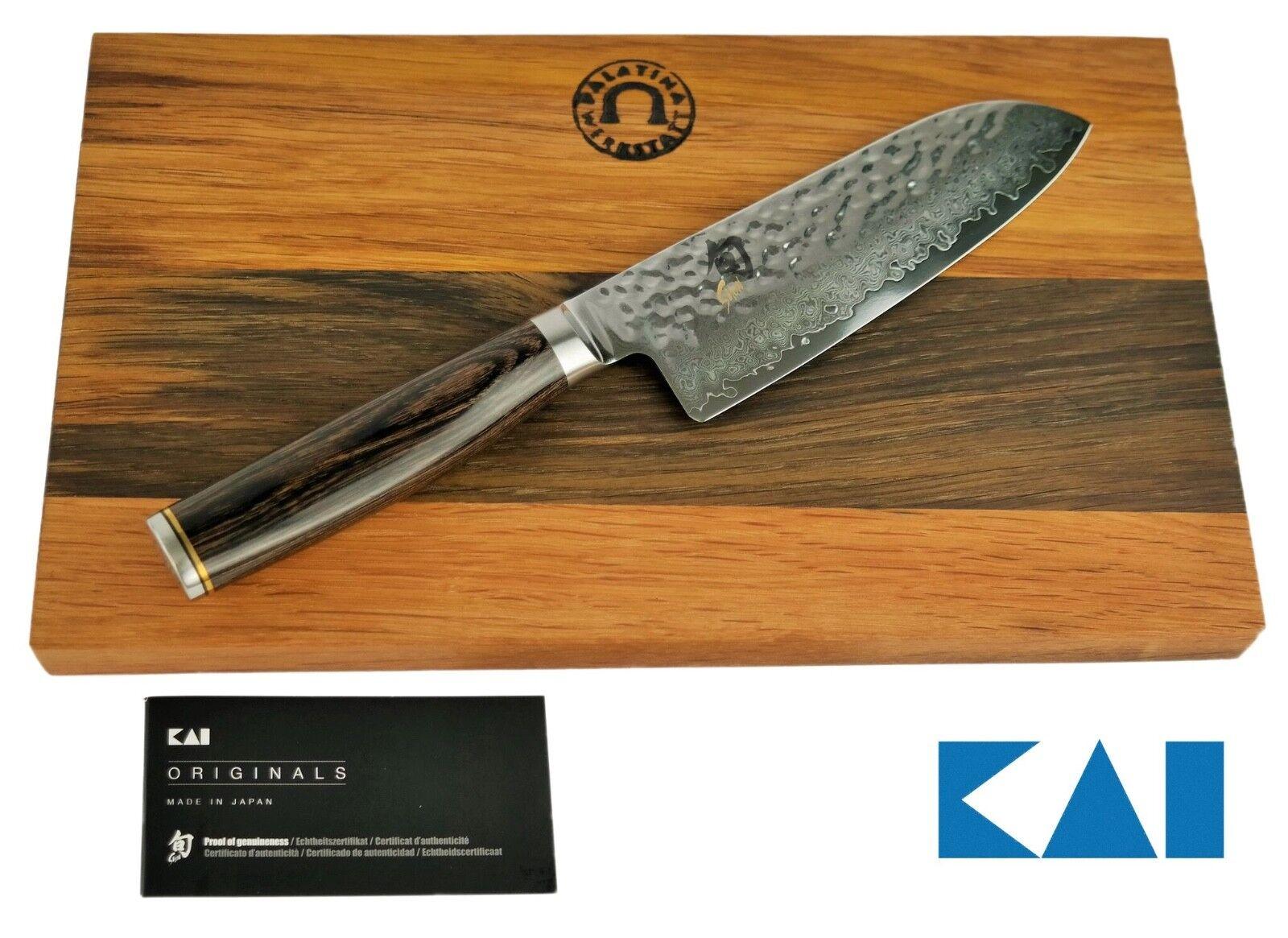 Kai Chun Premier Cadeau Tim malteurs tdm-1727 Santoku Couteau + planche à découper