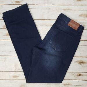 Woolrich-Dark-Indigo-Denim-Straight-Leg-Stretch-Blue-Jeans-Womens-Size-10