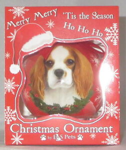 Image Is Loading Cavalier King Charles Spaniel Christmas Ornament Shatter Proof