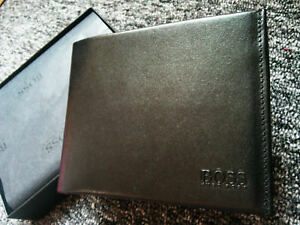 b8a9432610449 Hugo Boss Arezzo Leder BRIEFTASCHE Portemonnaie Wallet Geldbörse ...